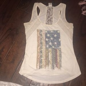 Tank top with lace on back